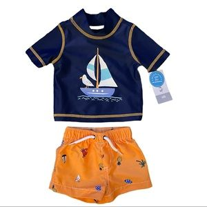 Carter's Newborn Two Piece Swimsuit Top Shorts New